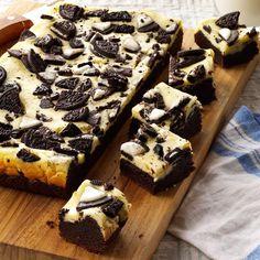 Marshmallow Oreo Brownies Just So Tasty. Fudge Brownie Cookies Just So Tasty. Potluck Desserts, Desserts For A Crowd, Just Desserts, Delicious Desserts, Dessert Recipes, Yummy Food, Impressive Desserts, Oreo Desserts, Cheesecake Desserts