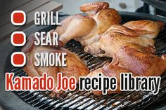 Looking for great grilling ideas, here's the Kamado Joe Recipe Library. Grilling Ideas, Grilling Recipes, Kamado Cooker, Real Food Recipes, Cooking Recipes, Cooking Tips, Big Green Egg Grill, Ceramic Grill, Kamado Grill