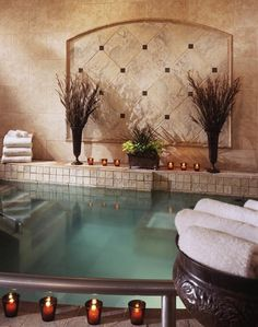 Jacuzzi at Three Springs Spa - Barton Creek Resort & Spa in Austin, Texas. Massage Place, Face Massage, Good Massage, Massage Room, Massage Therapy, Spring Spa, Best Weekend Getaways, Relax, Getting A Massage