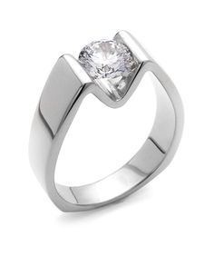 Blissful #Diamond Engagement Ring Love the modern setting #rings . www.finditforweddings and www.facebook.com/FIND.IT.For.Weddings
