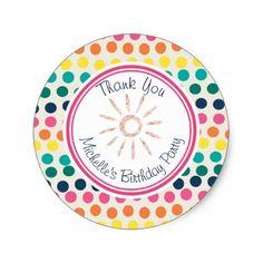 #glitter - #Summer Sun | Colorful Dots Personalized Sticker