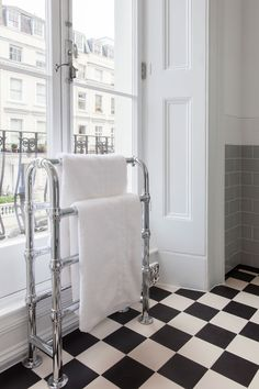 An essential luxury in the bathroom, the heated towel rail can be freestanding or wall-mounted, Art Deco or ball-jointed. Save a fantastic 40% off this traditional towel rail in the C.P. Hart winter sale.