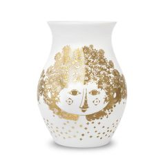 Bjørn Wiinblad - Vase Felicia, gold Gold H:18 Jetzt bestellen unter: http://www.woonio.de/produkt/bjorn-wiinblad-vase-felicia-gold-gold-h18/