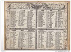 calendrier 1855
