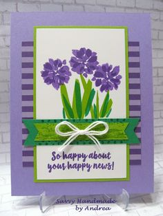 Stampin' Up! Abstract Impressions stamp set with new purple colors by Savvy Handmade Cards