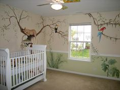 Decorating Jungle Wall Murals Theme for Nursery
