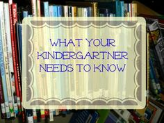 What YourKindergartnerNeeds to Know One thing i was really trying to get a sense of when I started homeschooling was WHAT I needed to teach my kids. I wanted to make sure they were learning what they should be so they were on track. Here are some basic skills to work on with your Kindergarten …