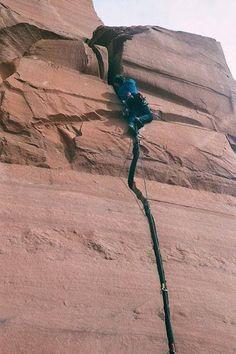 Lightning Bolt Cracks. Indian Creek, Moab, UT.