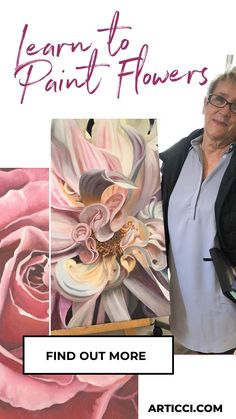 Painting Flowers Tutorial, Oil Painting Flowers, Flower Tutorial, Paint Flowers, Water Soluble Oil Paint, The Joy Of Painting, Painting Courses, Learning Shapes, Luminous Colours