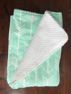 0a2d534899 Gender Neutral Baby Blanket Mint Arrow Baby Blanket by BizyBelle
