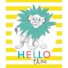 Lion King Simba Hello There Disney Fabric Panel Sew Over It Patterns, New Look Patterns, Simplicity Patterns, Christmas Fabric Crafts, Disney Fabric, Lion King Simba, Halloween Fabric, Fabric Gifts, Disney Dresses