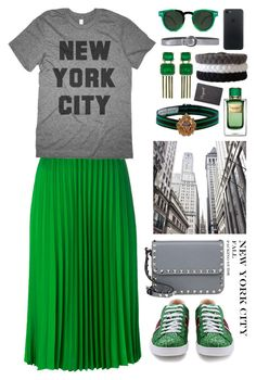"""New York City Travel Outfits"" by gicreazioni ❤ liked on Polyvore featuring Sylva & Cie, P.A.R.O.S.H., Spitfire, Gucci, Dolce&Gabbana, Gabriele Frantzen, Orciani and Valentino"