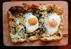 Breakfast Egg and Pesto Pizza