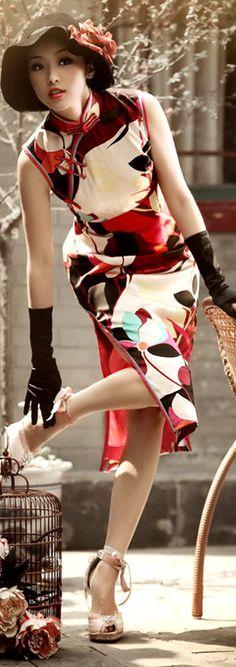 High fashion cheongsam dress