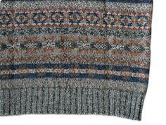 subtle colours and patterns- jamieson's fair-isle vest, via rusk
