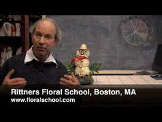 Floral Snowman--from Rittners Floral School, in Boston, MA  www.floralschool.com