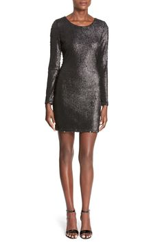 Long Sleeve Sequin Bodycon Dress  by soloiste on @nordstrom_rack