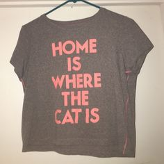 Cute Graphic Crop Top Cute grey graphic crop top, size small, Bethany Mota collection at Aeropostale Aeropostale Tops Crop Tops