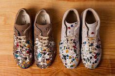 maison martin margiela 2012 pre-fall splatter sneakers