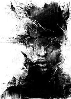 ..., art, black and white, byroglyphics, digital, draw