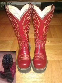 W6 F-Sole Cowboy Hi boots! $100