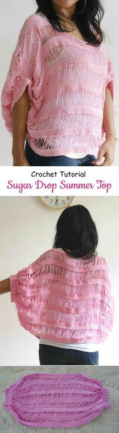 Crochet Sugar Drop Summer Top