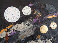 "http://chalang.wordpress.com .""hours ""mix media detail by Chantal Lang"