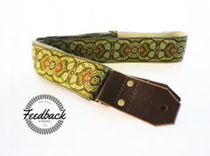 Hemp Guitar Strap  Stunning Green Paisleys by FeedbackStraps, $64.99