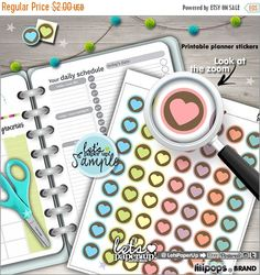 60%OFF - Printable Planner Stickers, Heart Stickers, Erin Condren, Printable Stickers, Flag Stickers, Kawaii Stickers, Planner Accessories,