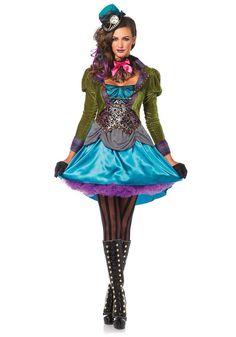leg avenue deluxe mad hatter adult wonderland womens halloween costume 85505 women