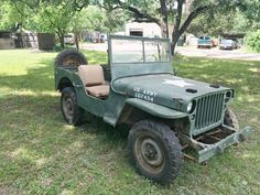 For sale is an ORIGINAL 1944 Willys MB Jeep. Made on August First of all, I am sorry for the bad quality photos, it is winter here and the Jeep got a bit dirty. Engine is a (rebuilt in almost identical to the original engine. Jeep Willys, Cj Jeep, Jeep Wrangler, Military Jeep, Military Vehicles, Dodge Cummins Diesel, Ford, Retro Cars, Cars