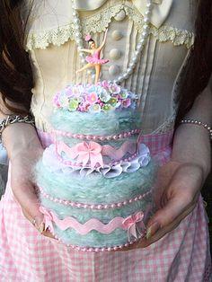 Dancing Ballerina Cake by ittybittybirdy, via Flickr