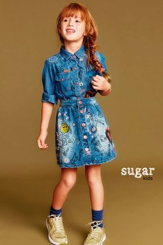 """Sofia from Sugar Kids for Desigual """"Mini Territorio Vaquero""""."""