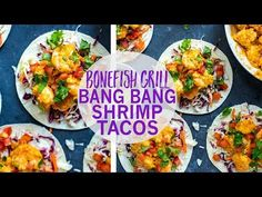 These Bang Bang Shrimp Tacos are a healthier version of the Bonefish Grill favourite - you're gonna have these tacos on repeat, trust me!