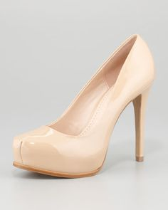 Irina Patent Leather Pump, New Nude by Pour la Victoire. So comfy!!! I need these!!!