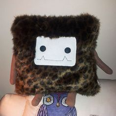 Leopard Faux Fur Pillow Monster  Cube / Throw by Curious Little Bird for sale for Christmas! $72.