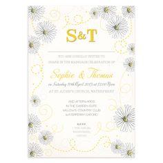 Daisy Print Wedding Invitation | Wedding Invitations £1.25