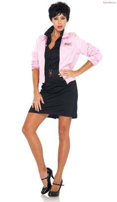 Your Favorite Grease Pink Ladies Jacket Adult Costume. Fabulous selection of Grease Costumes for Valentine's Day, Halloween at PartyBell. Grease Outfits, Grease Costumes, Cool Costumes, Adult Costumes, Costumes For Women, Costume Ideas, Twin Costumes, Woman Costumes, Pirate Costumes