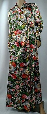 Vintage 60s Multicolored Floral Nightgown By Vanity Fair