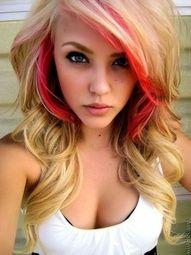 Blonde Peek A Boo Hair Highlights