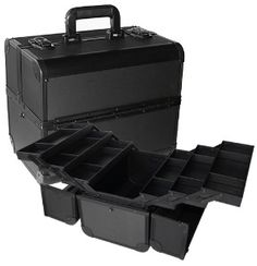 Large Black Aluminum Pro Makeup Case TS-22