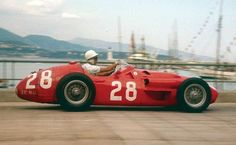 Stirling Moss, 1956 Monaco GP. Maserati 250F.
