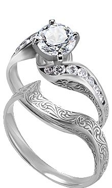 Love the tooled bands... If only it were square diamonds! It'd be perfect!