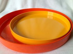 60s cool vintage mid century melamine trays. Made in by Inspiria