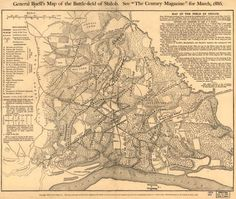Library of Congress map of the Battle of Shiloh, Civil War
