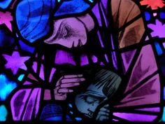 Compassion  Stained glass window at the Washington National Cathedral