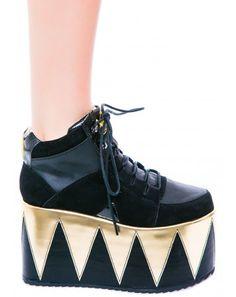 Y.R.U. Qozmo Hi Platform Sneakers   Dolls Kill