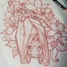 Lil fruit bat tatt sketch for Katie Slawter Bosquejo de Lil fruit bat tomado para Katie Slawter # fruitbat # battattoo # prism mask # coloredpencilsketch Makeup Tattoos, Body Art Tattoos, Bat Tattoos, Tattoo Sketches, Tattoo Drawings, Bat Sketch, Small Daisy Tattoo, Theme Tattoo, Piercing Tattoo
