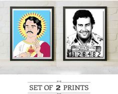 Pablo Escobar Mugshot Narcos TV Show Replica Prop Framed Print Gift Medellin Colombia Art #Narcos #PabloEscobar #Giftideas