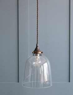 Let there be light (and style) with this stunning bell-blown glass pendant light, available in large & small sizes at great prices now at Rose & Grey. Bedside Pendant Lights, Small Pendant Lights, Bedside Lighting, Pendant Lighting, Blown Glass Pendant Light, Glass Pendants, Up House, Ceiling Lights, Rose